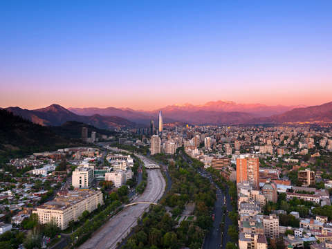 Cityscape of santiago de chile 4