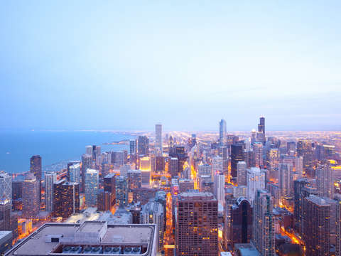 Elevated view of chicago