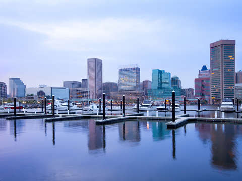 Cityscape of baltimore
