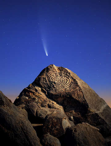 Comet neowise spiral petroglyph