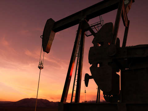 Pump jack in an oil field