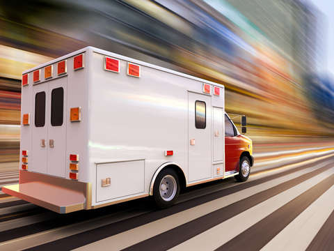 Ambulance at high speed