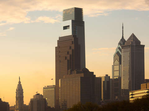 Cityscape of philadelphia