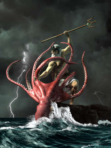 Poseidon vs the kraken