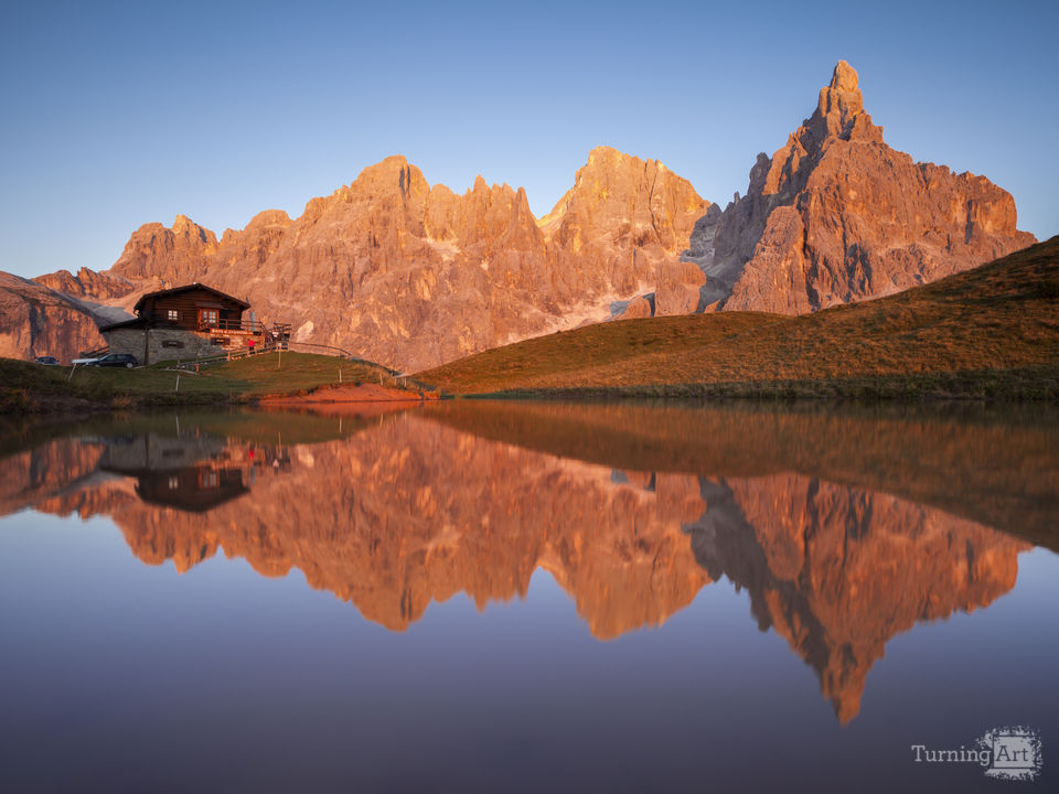 Dolomites italy pale di san martino sunset