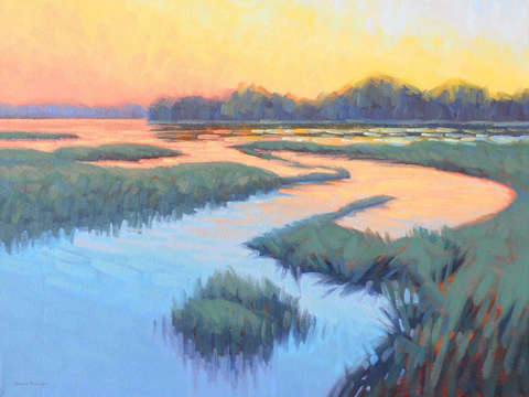 Marsh at sunrise