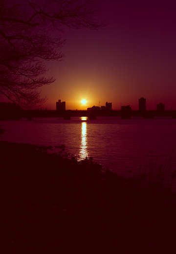 Sunset on the charles