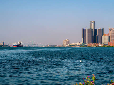 Detroit river and downtown detroit img 1951