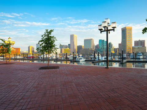 Skyline of Baltimore Inner Harbor