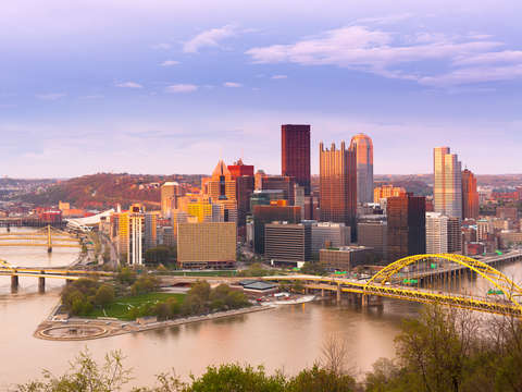 Panoramic view of pittsburgh