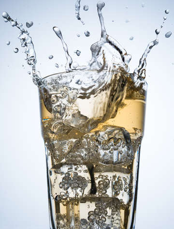 Splashing on a glass of soft drink