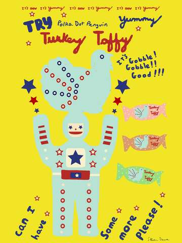 Polka Dot Penguin Turkey Taffy