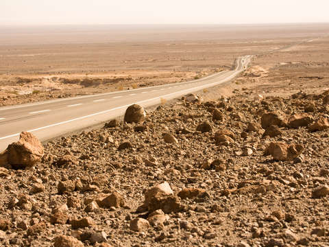 Road in the Atacama desert