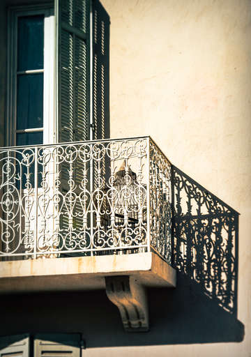Cannes balcony shadows