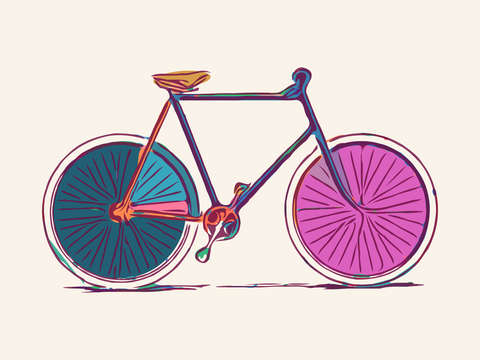 Colorful bicycle