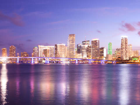 Skyline of the city of Miami