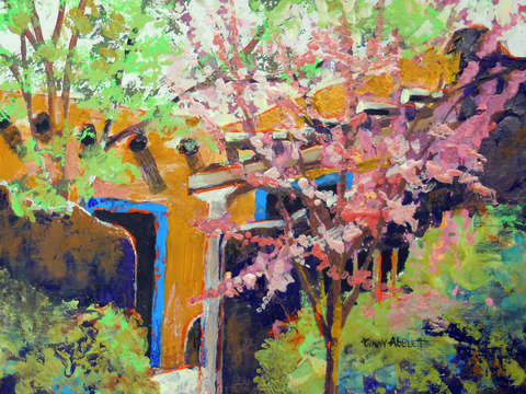 Casita with plum blossoms