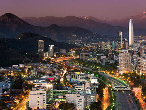 Skyline of santiago de chile 4