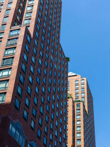 Blue sky and windows manhattan nyc