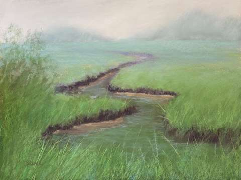 Mist over the marsh