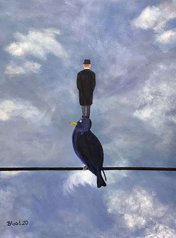 Man On A Bird On A Wire