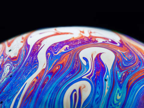 Soap bubble close up 13