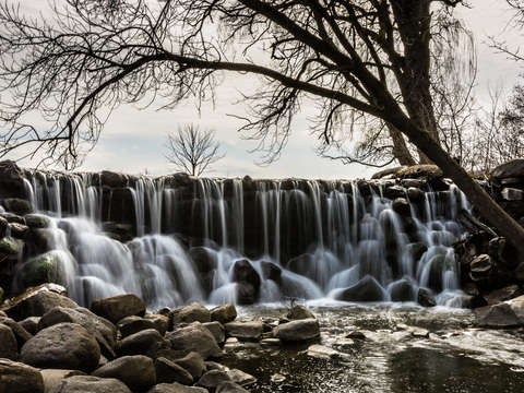 Whitnall waterfall in spring