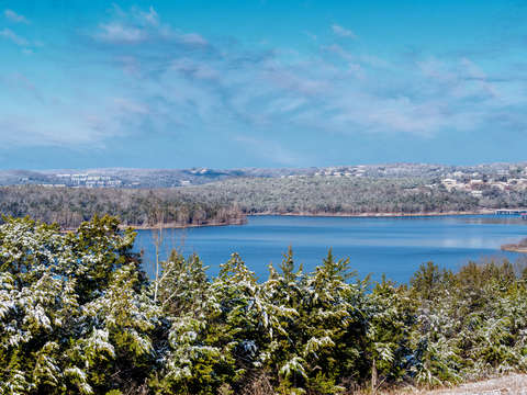 Snow dusting at table rock lake