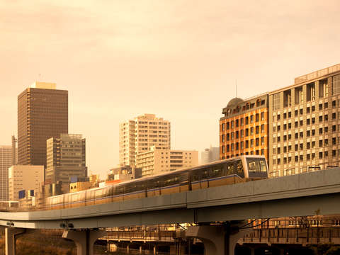 Elevated Yurikamome monorail