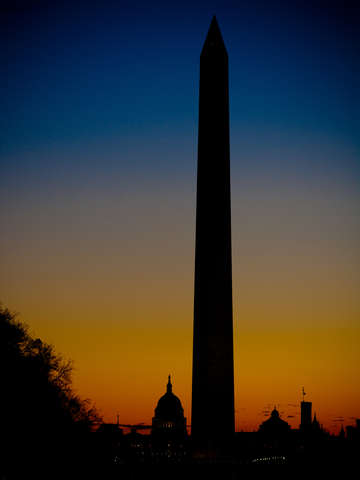 National mall at sunrise
