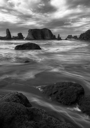 Bandon in black and white
