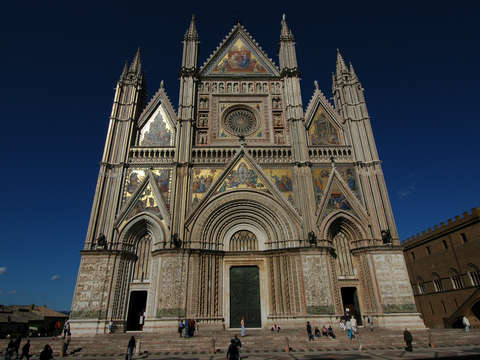 The cathedral in orvieto italy