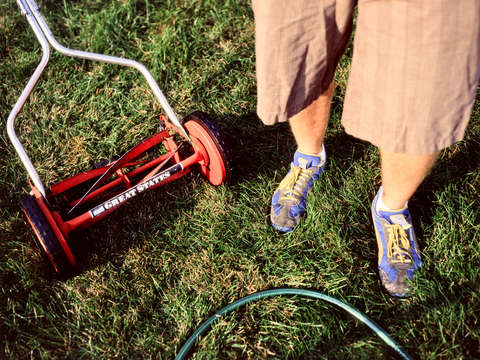 Mowing shoes