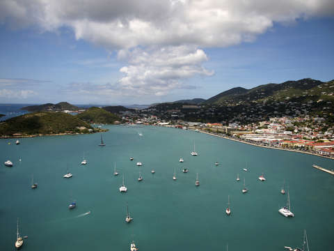 Over charlotte amalie harbor