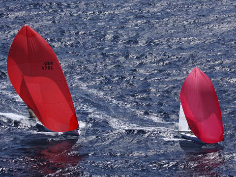 Red caribbean spinnakers