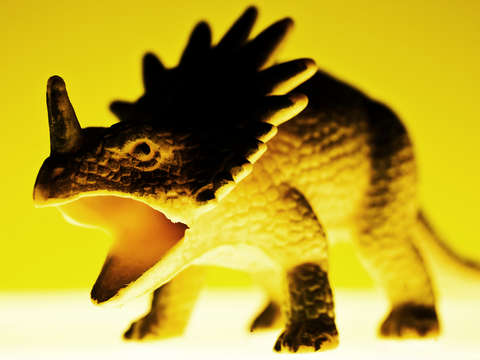 Toy dinosaur yellow