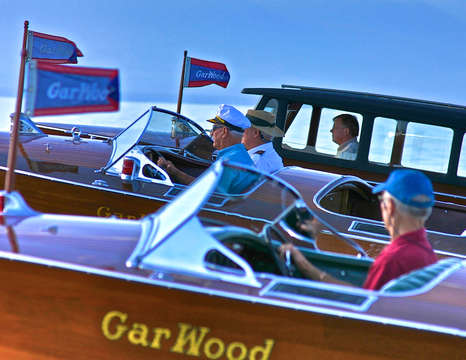 Classic Gar Wood Runabouts at Lake Tahoe