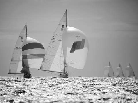 Spinnakers fly in 2009 12 metre worlds