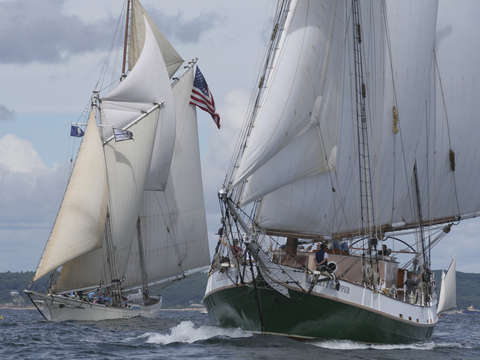 Liberty clipper sails past spirit of massachusetts