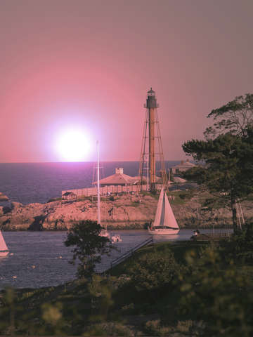 Sunset on marblehead neck