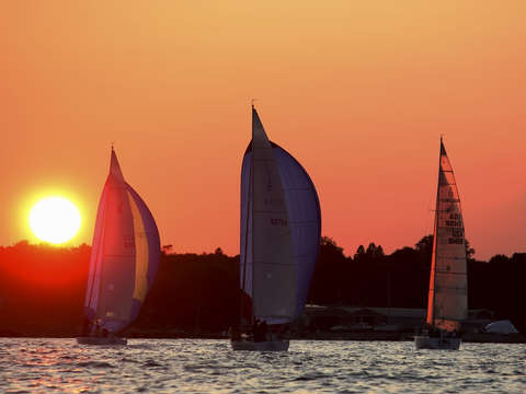 Sunset race to marblehead