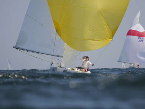 Yellow spinnaker