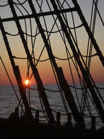 Sunset through the rigging