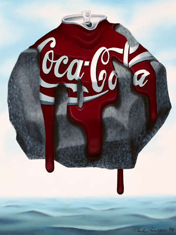 Coca cola on the rocks