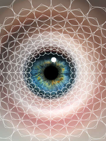 Spirographic eye geometry natures shapes