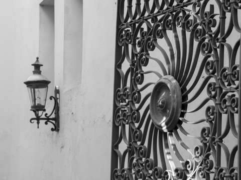 Ornamental iron ponce puerto rico black and white